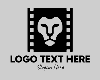 Movie Reel - Lion Film Production logo design
