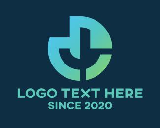Web Hosting - Round Tech Letter J  logo design