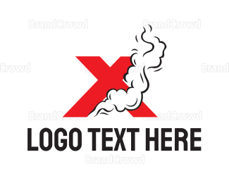 Activity - Smoking Red X logo design