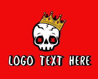Tattoo Parlor - Graffiti Skull Crown logo design