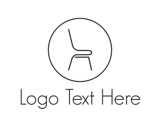Office Supplies - Minimal Chair logo design