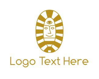 Oval - Oval Egyptian Pharaoh logo design