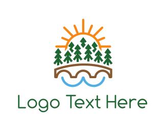 Forest - Forest Bridge logo design