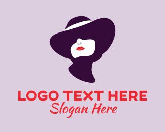 Glamour - Elegant Woman Boutique logo design
