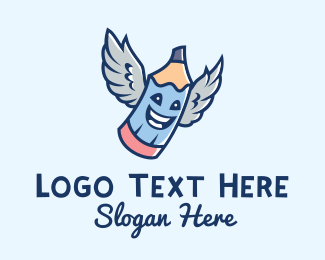 Lecturer - Happy Angel Wings  logo design
