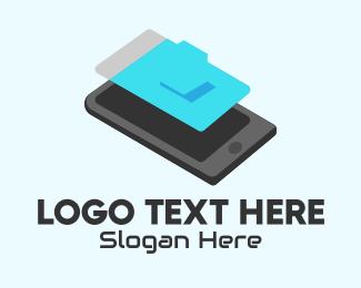 Mobile Phone - Isometric Mobile Phone logo design