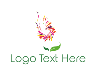 Petal - Flying Petals logo design