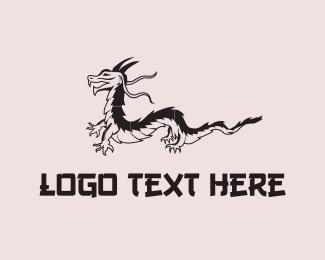 Lizard - Black Dragon logo design