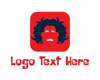 Crazy - Crazy Man App logo design