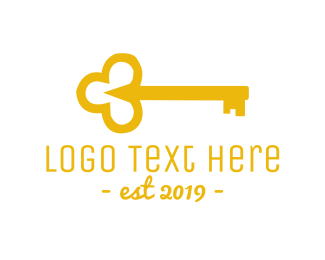 Golden - Gold Key logo design