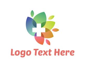 Fellowship - Flower Cross logo design