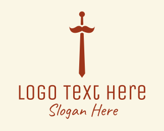 Formal - Hipster Mustache Necktie  logo design