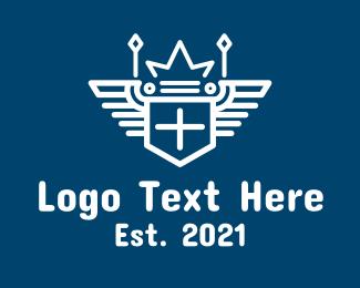 Gaming - White Wing Royal Crest logo design