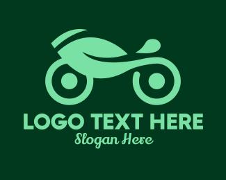 Hybrid - Green Eco Motorcycle Delivery logo design