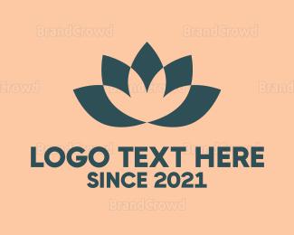 Alternative Medicine - Lotus Flower logo design
