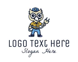 Electrician - Owl Electrician logo design