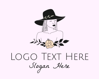 Lingerie Designer - Black Fashion Woman  logo design
