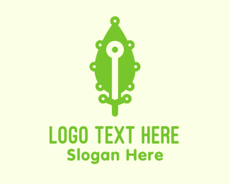 Webhosting - Green Leaf Eco Technology logo design