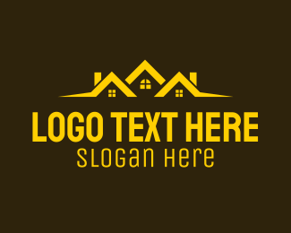 Home Loan - Yellow Subdivision Realty logo design
