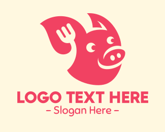 Pork - Happy Pork Restaurant logo design