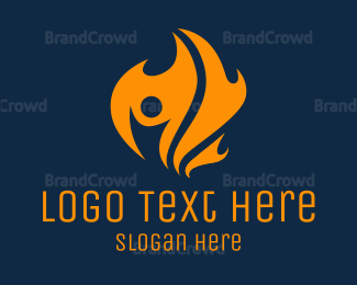 Fireman - Black Fire logo design