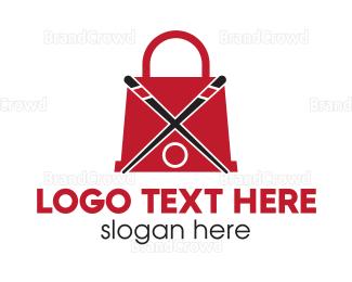 Recipe - Sushi Shopping  logo design