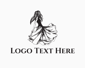 Gown - Dancing Girl logo design
