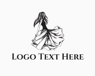 Women - Dancing Girl logo design