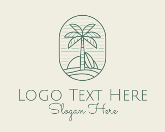 Palm - Minimalist Tropical Palm Tree logo design