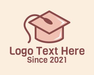 School - Online Graduate School logo design