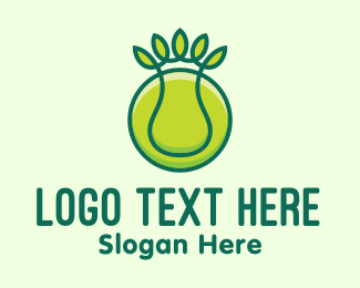 Tennis Ball - Green Eco Tennis Ball logo design