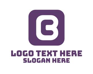 Online App - Purple App Letter C logo design