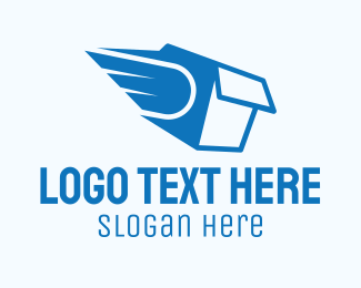 Shipping Service - Blue Package Express Delivery logo design
