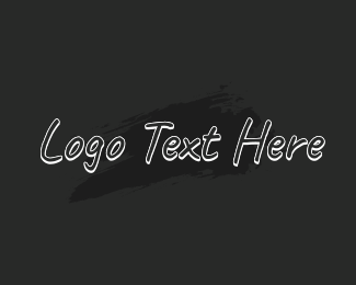Text Logo - Hand Writing Wordmark logo design