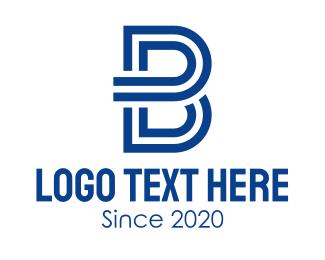 Brand - Business Blue Letter B logo design