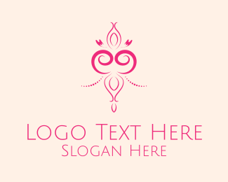 Vintage - Simple Pink Decor  logo design