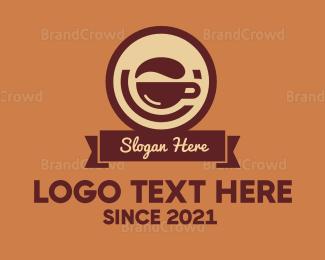 """Brown Coffee Badge"" by wasih"