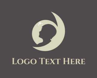 Bed - Moon Boy logo design