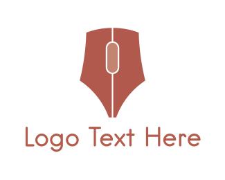 Blogging - Mouse Pen logo design