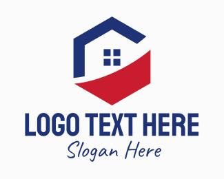 House - Real Estate Hexagon logo design