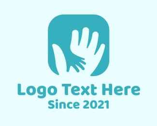 Psychotherapy - Parent Child Hand logo design