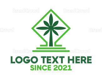 Joint - Green Cannabis Shrine logo design