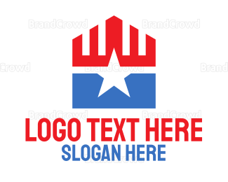 Political - Patriotic Star Pentagon logo design