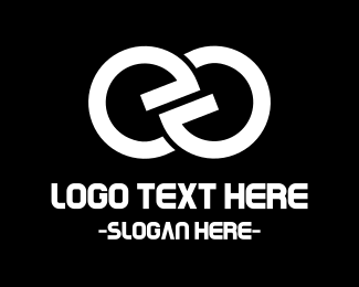 Fidget Spinner - E Chain logo design