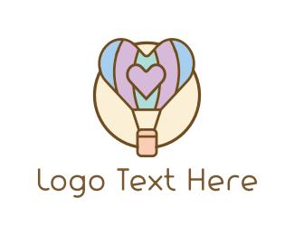 Friend - Love Balloon logo design
