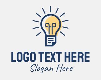 Online Learning - Lightbulb Learning Center logo design