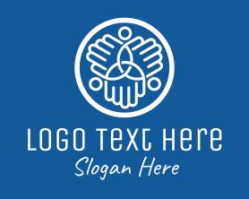 Together - People Hands Community logo design