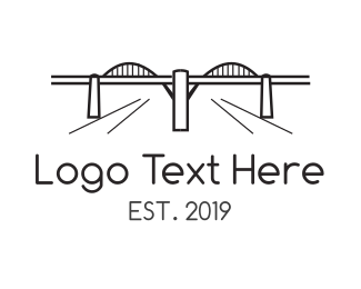 Long - Los Angeles Bridge logo design