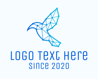 Hummingbird - Digital Circuit Hummingbird logo design