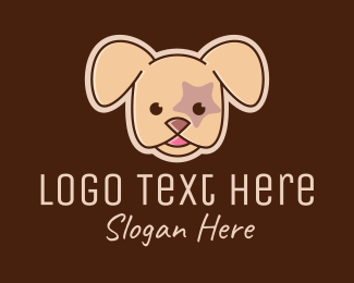 Pet Groomer - Star Puppy Dog  logo design